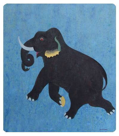 'Freedom' - Acrylic Elephant Painting