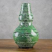 Lacquered bamboo vase, 'Image of Nature' - Lacquered bamboo vase