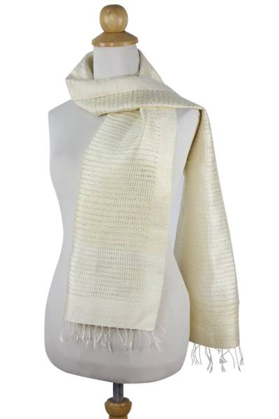 Silk Patterned Shawl Hand Woven Wrap