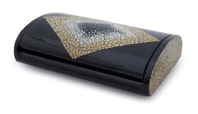Handcrafted Eggshell Mosaic Jewelry Box Shining Diamond NOVICA
