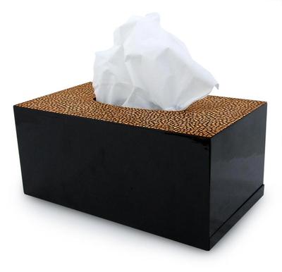 Eggshell mosaic tissue box