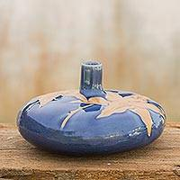Featured review for Celadon ceramic vase, Blue Valley Lily