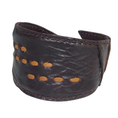 Fair Trade Leather Wristband Bracelet
