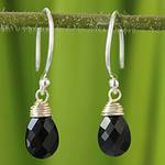Women's Silver and Spinel Dangle Earrings, 'Glowing Exotic'
