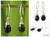 Black spinel dangle earrings, 'Glowing Exotic' - Women's Silver and Spinel Dangle Earrings (image 2) thumbail