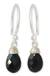 Black spinel dangle earrings, 'Glowing Exotic' - Women's Silver and Spinel Dangle Earrings thumbail