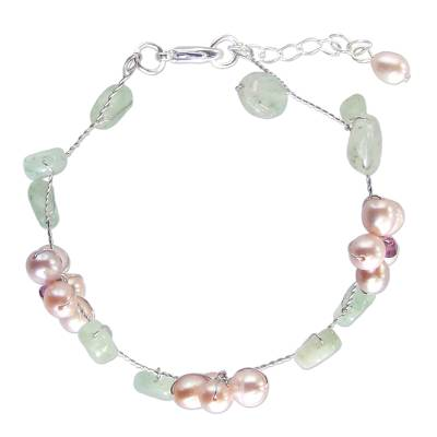 Pearl and Quartz Beaded Bracelet
