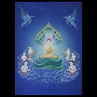 'The Faith of Buddha' (2008) - Spiritual Acrylic Painting