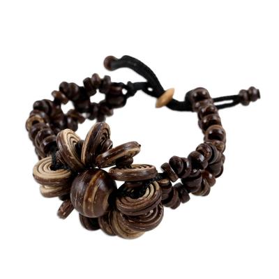 Handcrafted Beaded Coconut Shell Bracelet