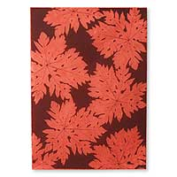 Saa wrapping paper, 'Red Forest' (set of 6) - Saa wrapping paper (Set of 6)