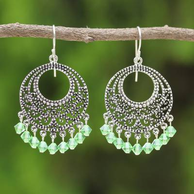 82dbfb2e3 Sterling silver chandelier earrings, 'Moroccan Mint' - Sterling Silver  Chandelier Earrings
