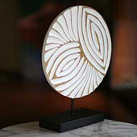 Wood sculpture, 'Petal Labyrinth' - Wood sculpture