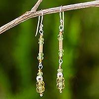 Citrine and peridot dangle earrings, 'Sweet Beauty' - Citrine and Peridot Dangle Earrings