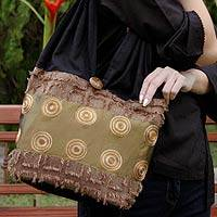 Shoulder bag, 'Moonlight - Handmade Cotton Shoulder Bag from Thailand