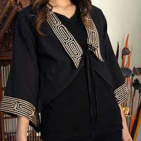 Cotton blouse, 'Thai Deluxe' - Fair Trade Handmade Cotton Blouse from Thailand