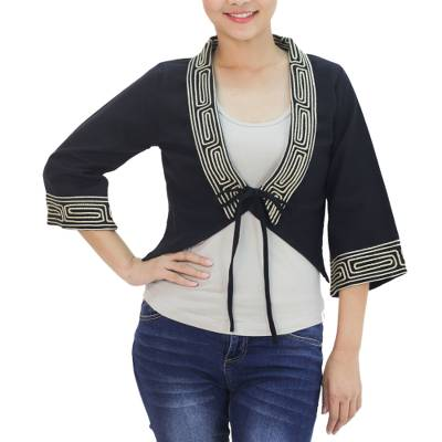 Cotton blouse, 'Thai Deluxe' - Handmade Cotton Blouse