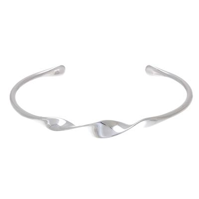 Handmade Modern Sterling Silver Cuff Bracelet