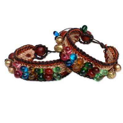 Beaded Wristband Bracelets (Pair)
