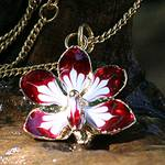Fair Trade Gold Plated Natural Orchid Necklace, 'Timeless Dancer'