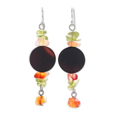 Onyx Beaded Dangle Earrings