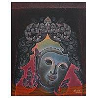 'Faithfulness I' - Thai Spiritual Buddha Painting