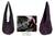 Silk and cotton shoulder bag, 'Hill Tribe Plum Chic' - Silk and cotton shoulder bag (image 2) thumbail
