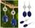 Lapis lazuli dangle earrings, 'Filigree Sky' - Silver Filigree and Lapis Lazuli Dangle Earrings thumbail