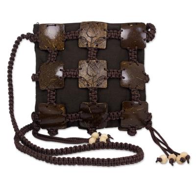 Handcrafted Coconut Shell Sling Handbag