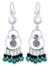 Pearl and malachite chandelier earrings, 'Filigree Falls' - Pearl and malachite chandelier earrings (image 2a) thumbail