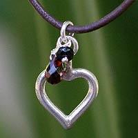 Garnet choker, 'Life in Love' - Garnet choker