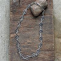 Featured review for Sterling silver link necklace, Vitality