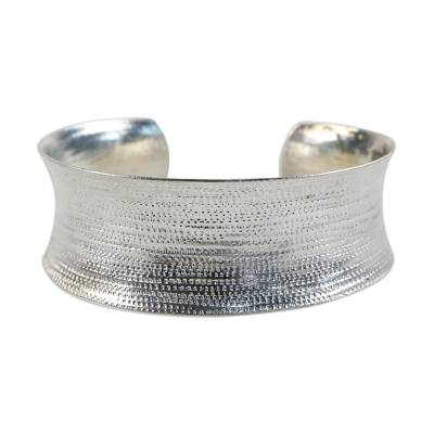 Handcrafted Hill Tribe Sterling Silver Cuff Bracelet