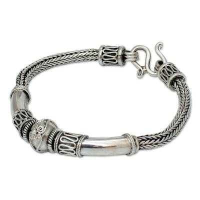 Handcrafted Sterling Silver Chain Bracelet