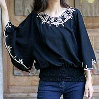 Cotton blouse, 'Cool Night'