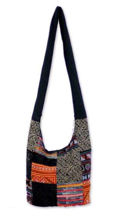 Cotton sling tote bag