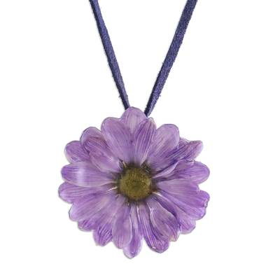 Natural flower necklace