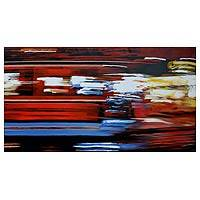 'Time Fast I' (2009) - Abstract Painting from Thailand