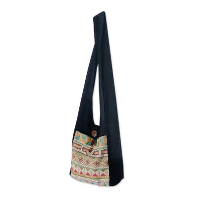 Cotton Patterned Shoulder Bag Handmade in Thailand