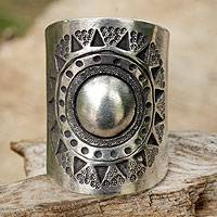 Featured review for Sterling silver wrap ring, Hill Tribe Sun