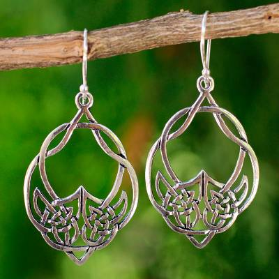 Novica Sterling silver dangle earrings, Chimes - Hand Made Sterling Silver Dangle Earrings