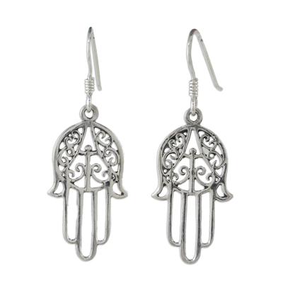 Hand Made Sterling Silver Dangle Earrings