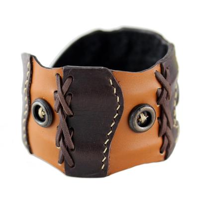 Unique Leather Cuff Bracelet