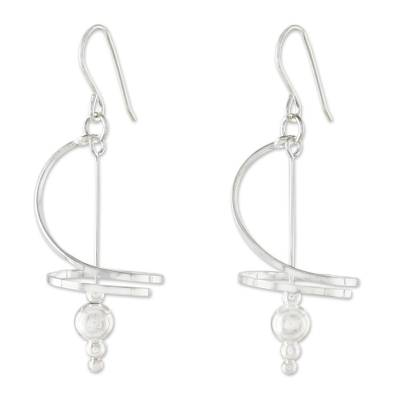Fair Trade Modern Sterling Silver Dangle Earrings