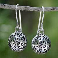 Sterling silver dangle earrings, 'Disco Dancer'