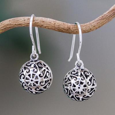 Sterling silver dangle earrings, 'Disco Dancer' - Sterling Silver Dangle Earrings