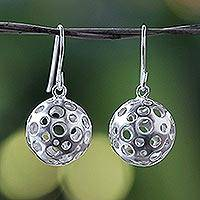 Sterling silver dangle earrings, 'Moonscape' - Modern Sterling Silver Dangle Earrings