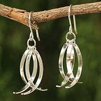 Sterling silver dangle earrings, 'Sea Vision' - Sterling Silver Dangle Earrings