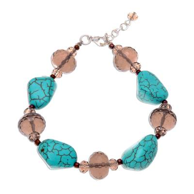 Unique Beaded Turquoise Colored Bracelet