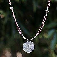 Featured review for Garnet pendant necklace, Mind Journey