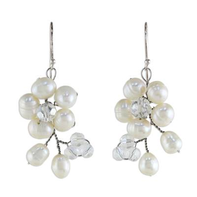 Pearl Cluster Earrings from Thailand